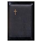 Keskikokoinen Raamattu musta, reunahak, kultasyrjä